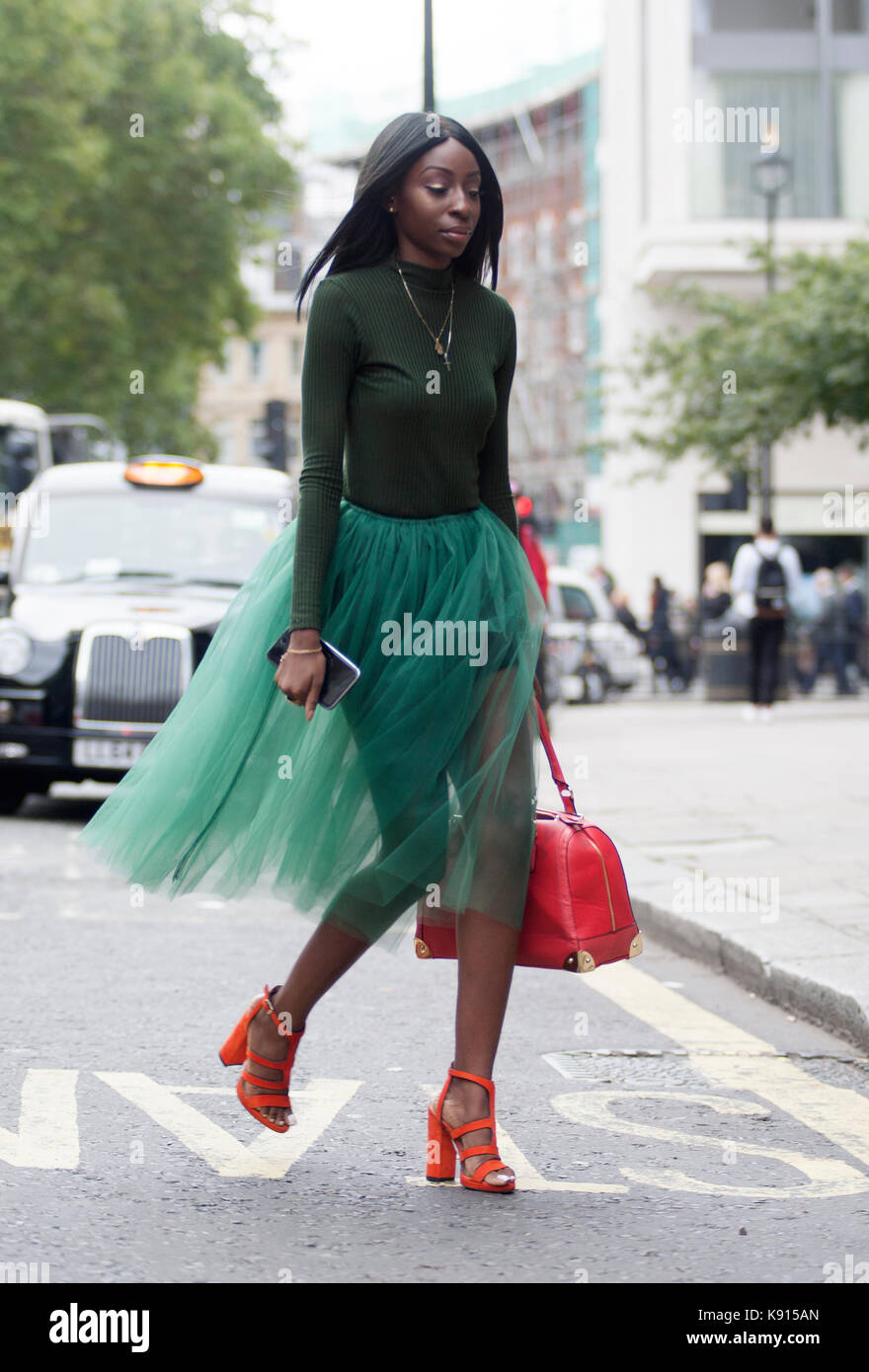 Street Style From Day Four Of London Fashion Week Spring Summer Stock Photo Royalty Free Image