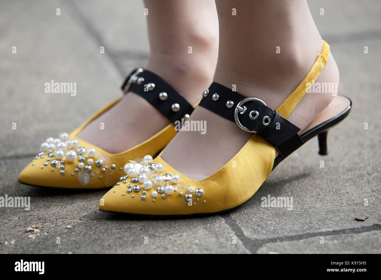 Street Style From Day Five Of London Fashion Week Spring Summer Stock Photo 160451569 Alamy