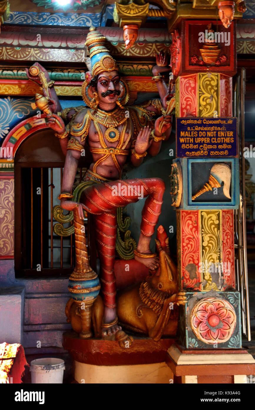 Pettah Colombo Sri Lanka New Kathiresan Kovil Temple Dedicated To War God Murugan Statue Of Hindu God - Stock Image