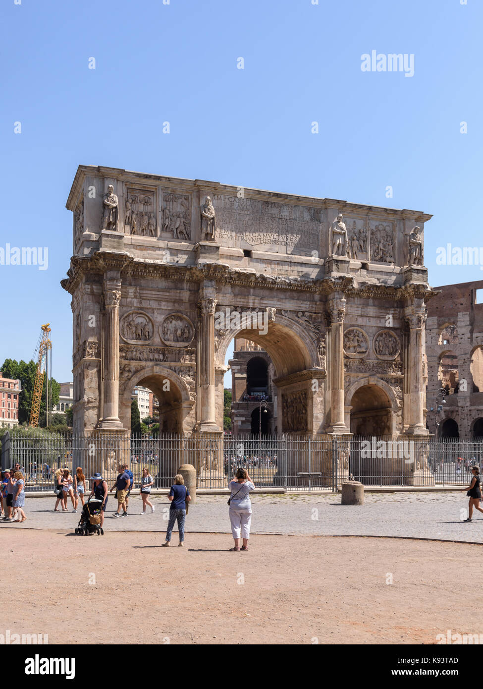 Arch of Constantine, Rome, Italy - Stock Image