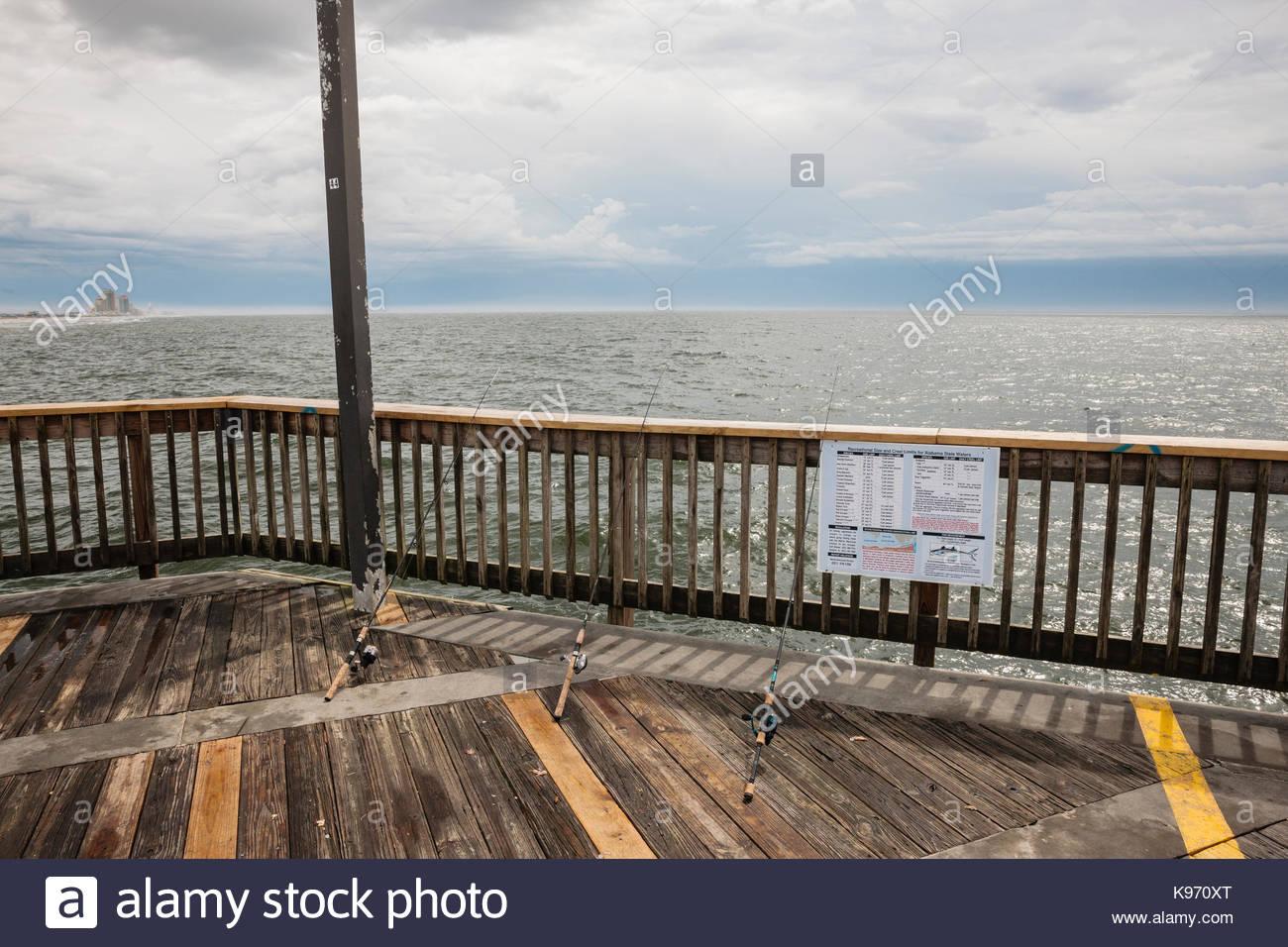 Alabama fishing stock photos alabama fishing stock for Gulf shores fishing pier