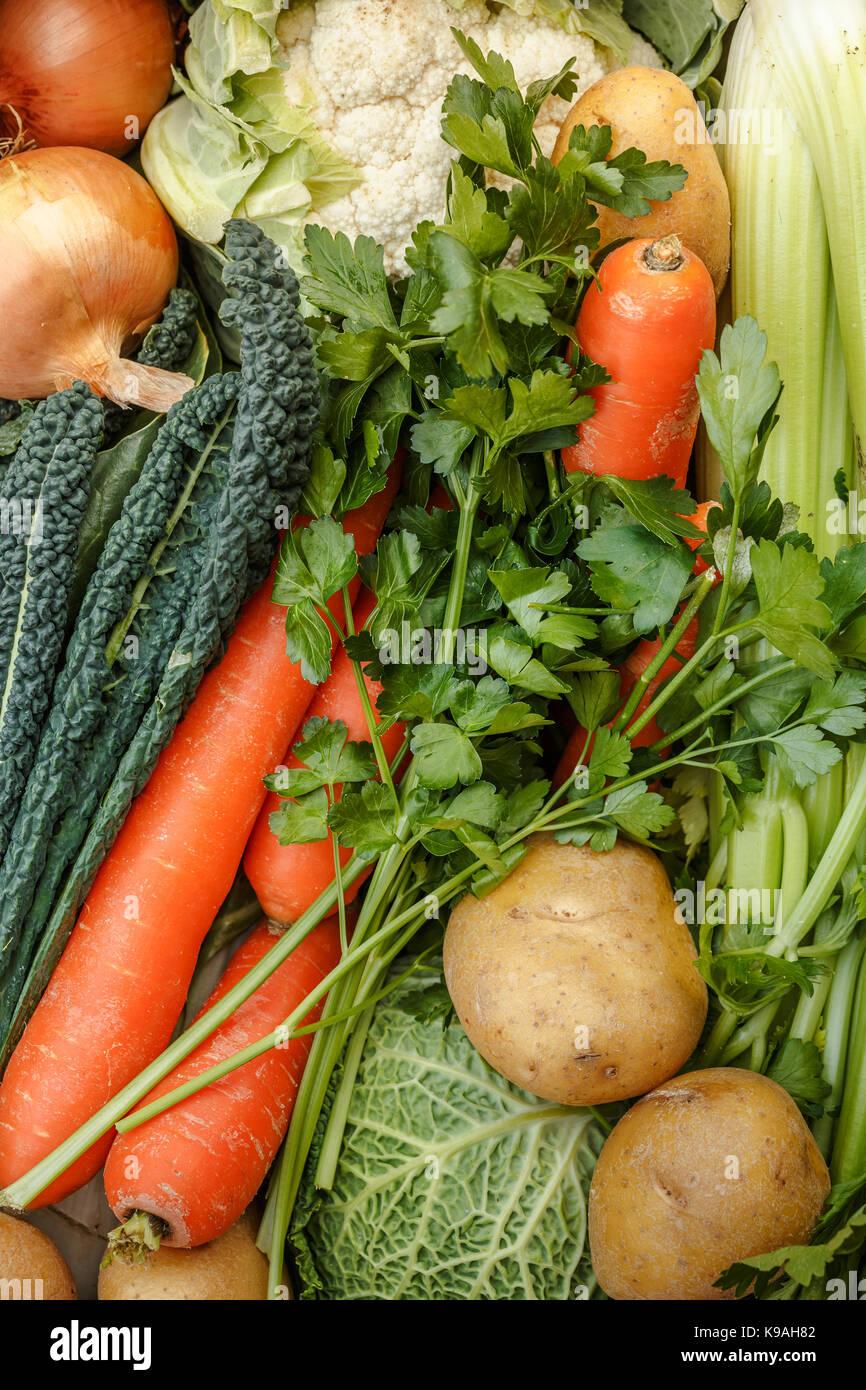 fresh vegetables background - Stock Image