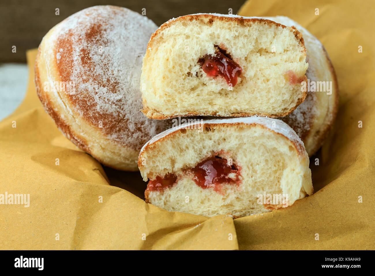 German doughnuts (krapfen) - Stock Image