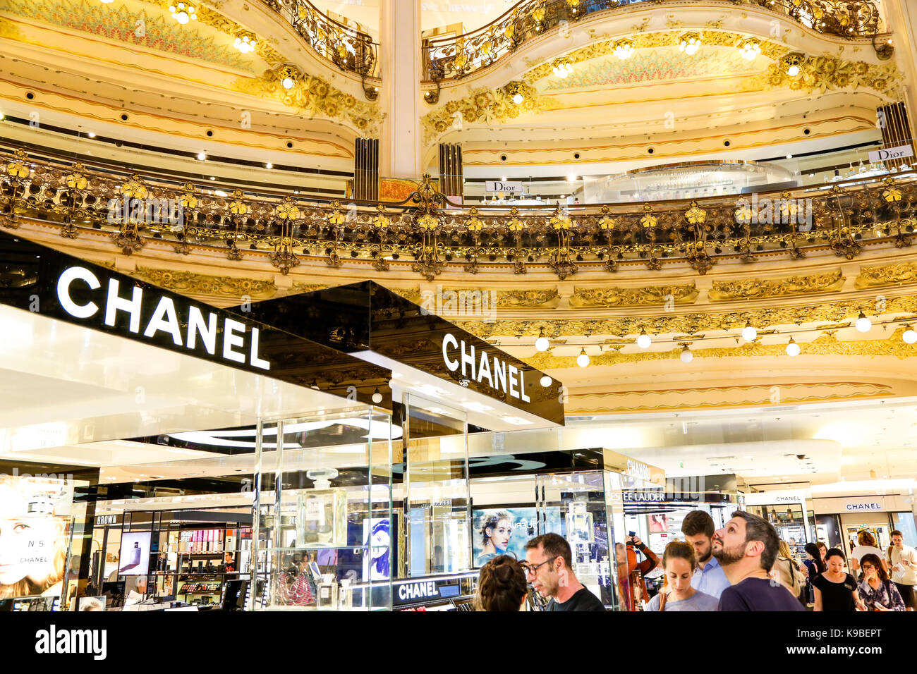 chanel store in paris france stock photos chanel store. Black Bedroom Furniture Sets. Home Design Ideas