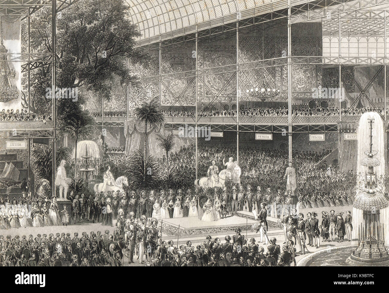 Opening of the Great Exhibition of 1851 - Stock Image