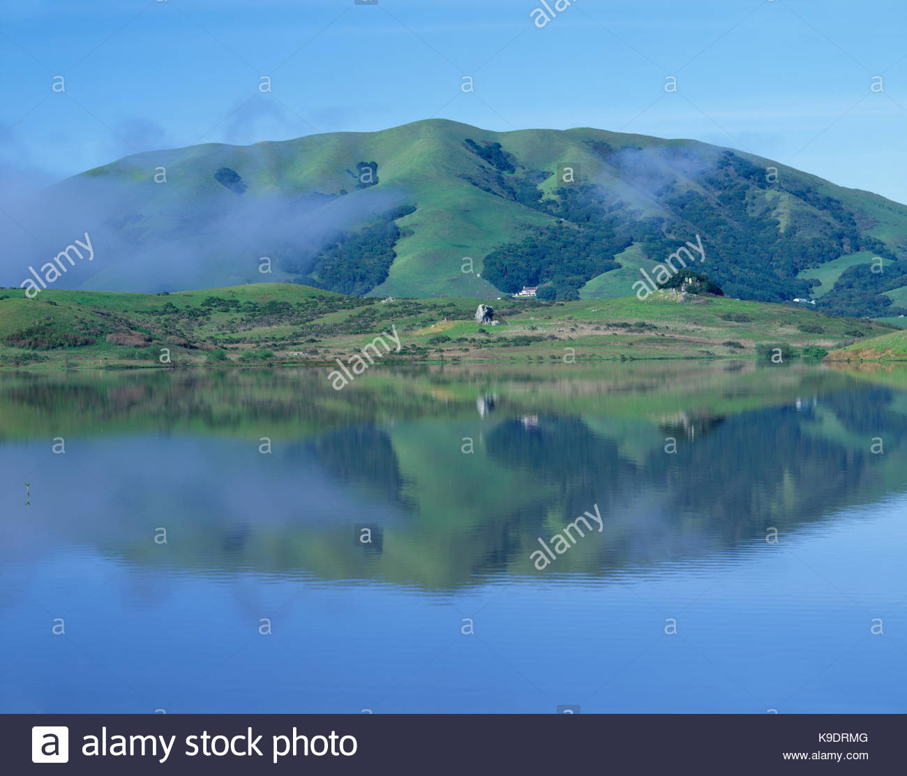 Black Mountain and Nicasio Reservoir, Marin County, California - Stock Image