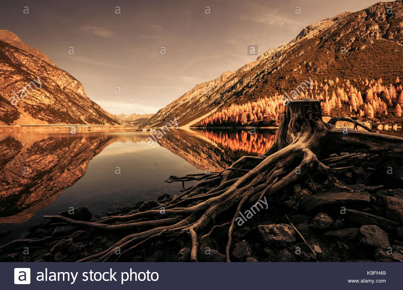 Livigno Lake - Stock Image