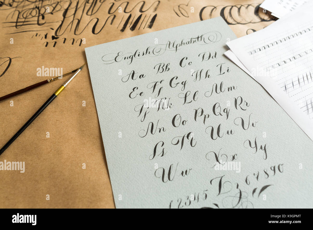 Drawing Smooth Lines Meaning : Elegant handwriting stock photos