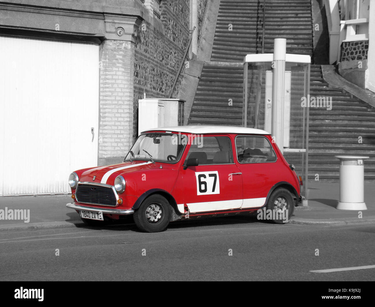 old mini cooper red stock photos old mini cooper red stock images alamy. Black Bedroom Furniture Sets. Home Design Ideas