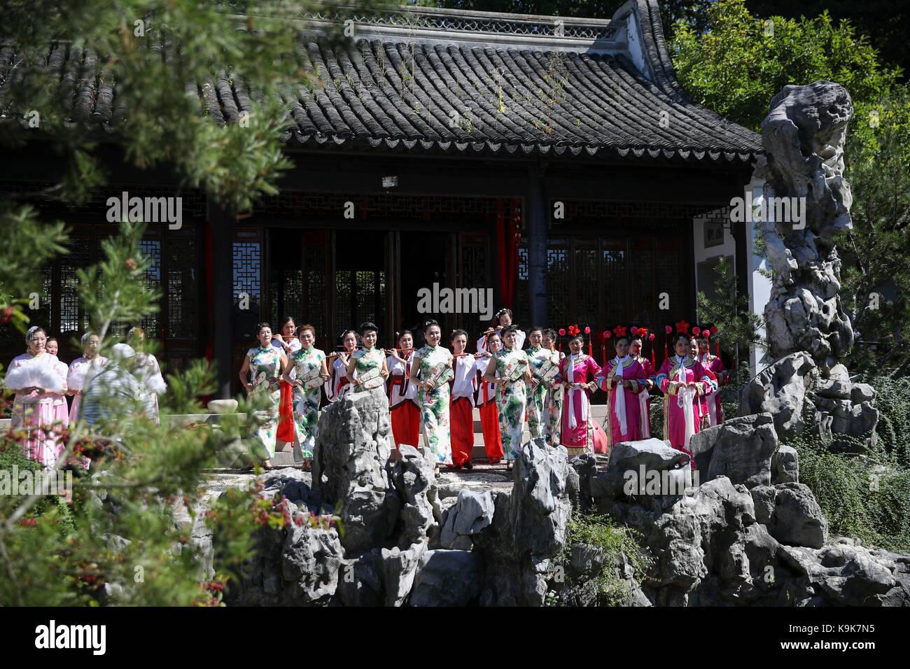 Chinese scholars garden stock photos chinese scholars garden stock images alamy for New york chinese scholar s garden