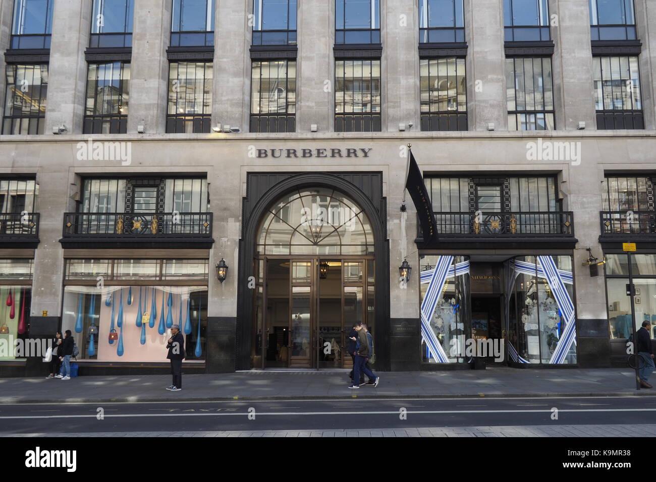 Burberry Regent Street Stock Photos & Burberry Regent ...