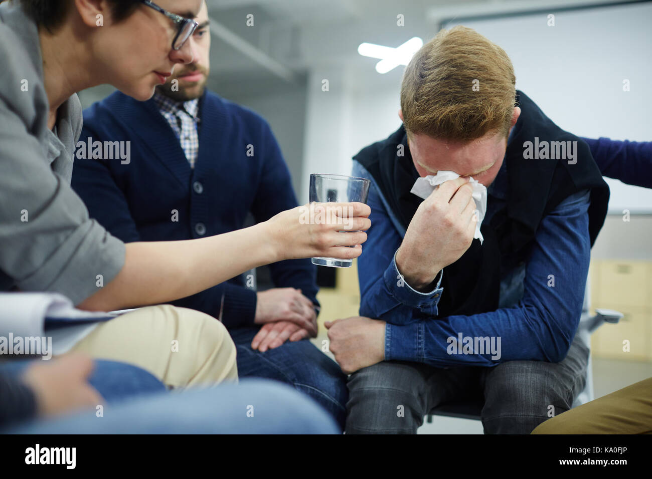 Hopeless man - Stock Image