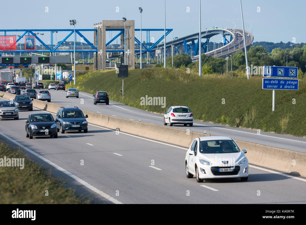french motorway toll stock photos french motorway toll. Black Bedroom Furniture Sets. Home Design Ideas