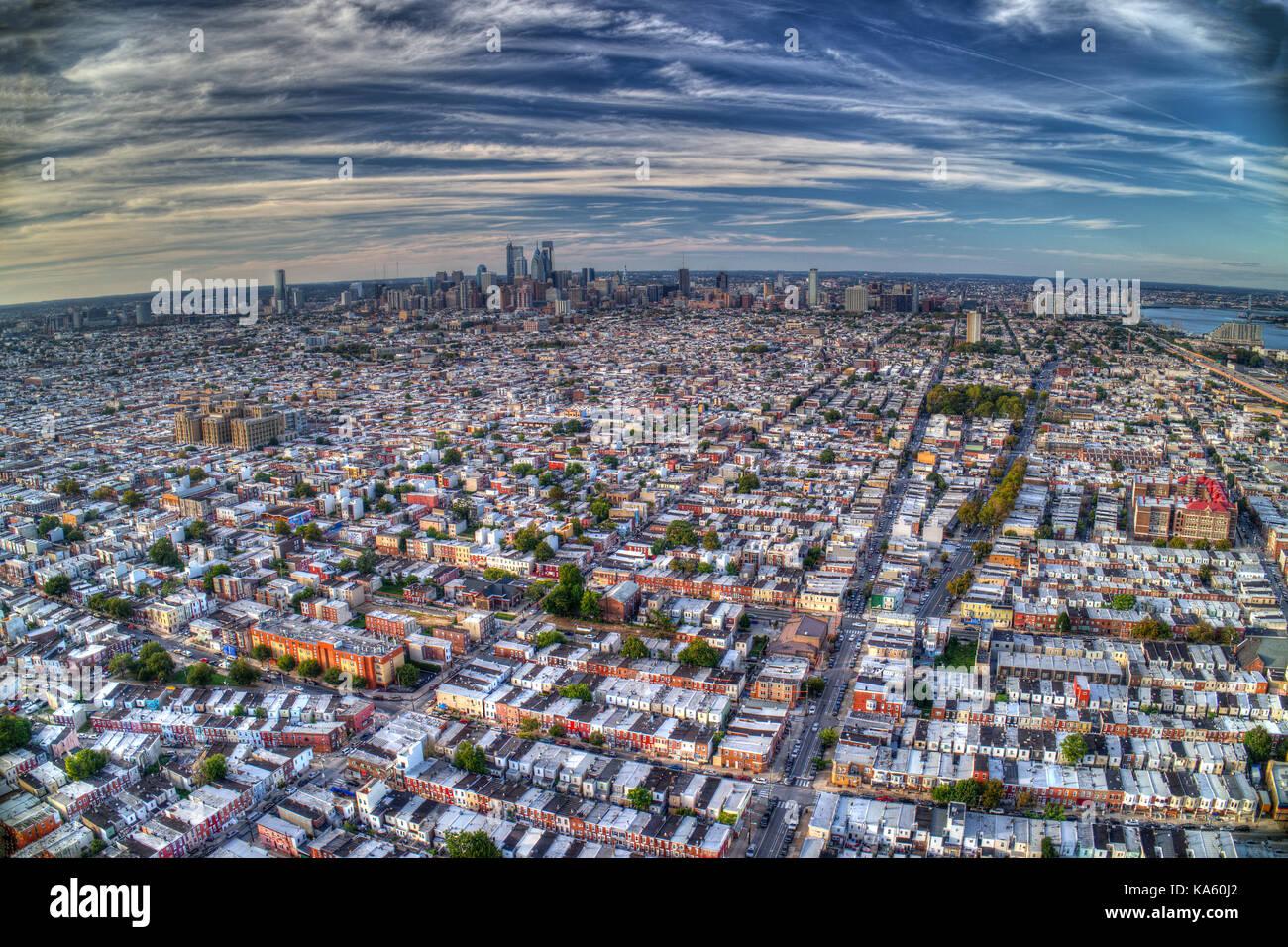 Aerial View Of Philadelphia PA - Stock Image