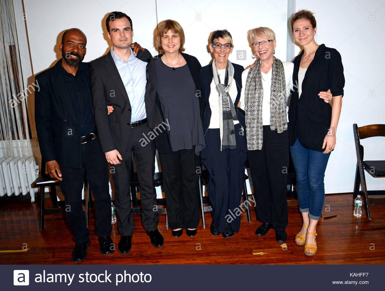 Brian Richardson, Stephen Plunkett, Ludovica Villar-Hauser, Marilyn Harris Kriegel, Karen Grassle and Kathleen Wise. - Stock Image