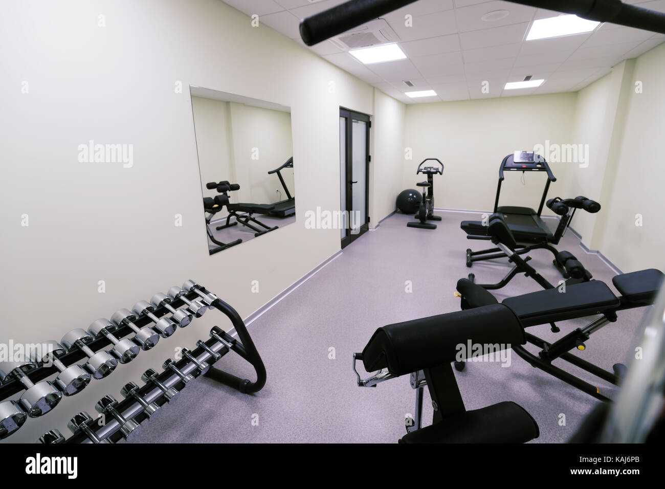 Empty gym stock photos images alamy