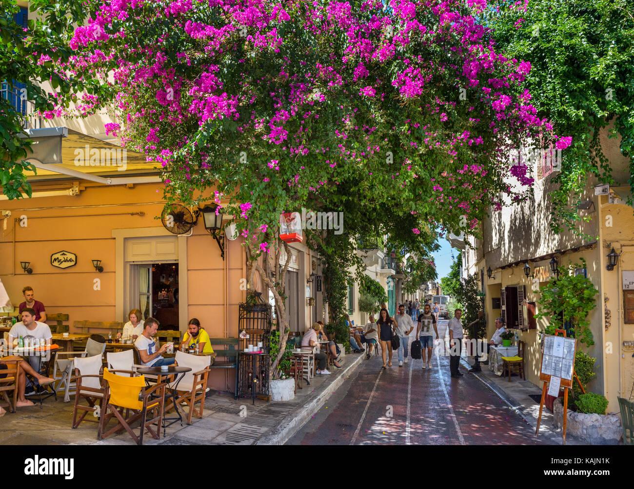 Plaka district athens greece stock photos