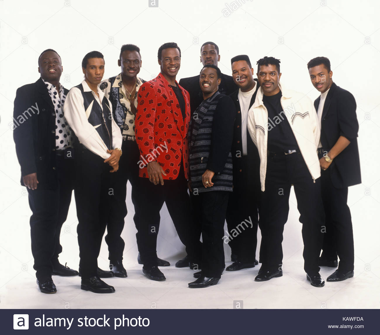American jazz, R&B, soul, funk and disco group Kool and the Gang, (L-R) Claydes Charles Smith, Robert Goble, - Stock Image