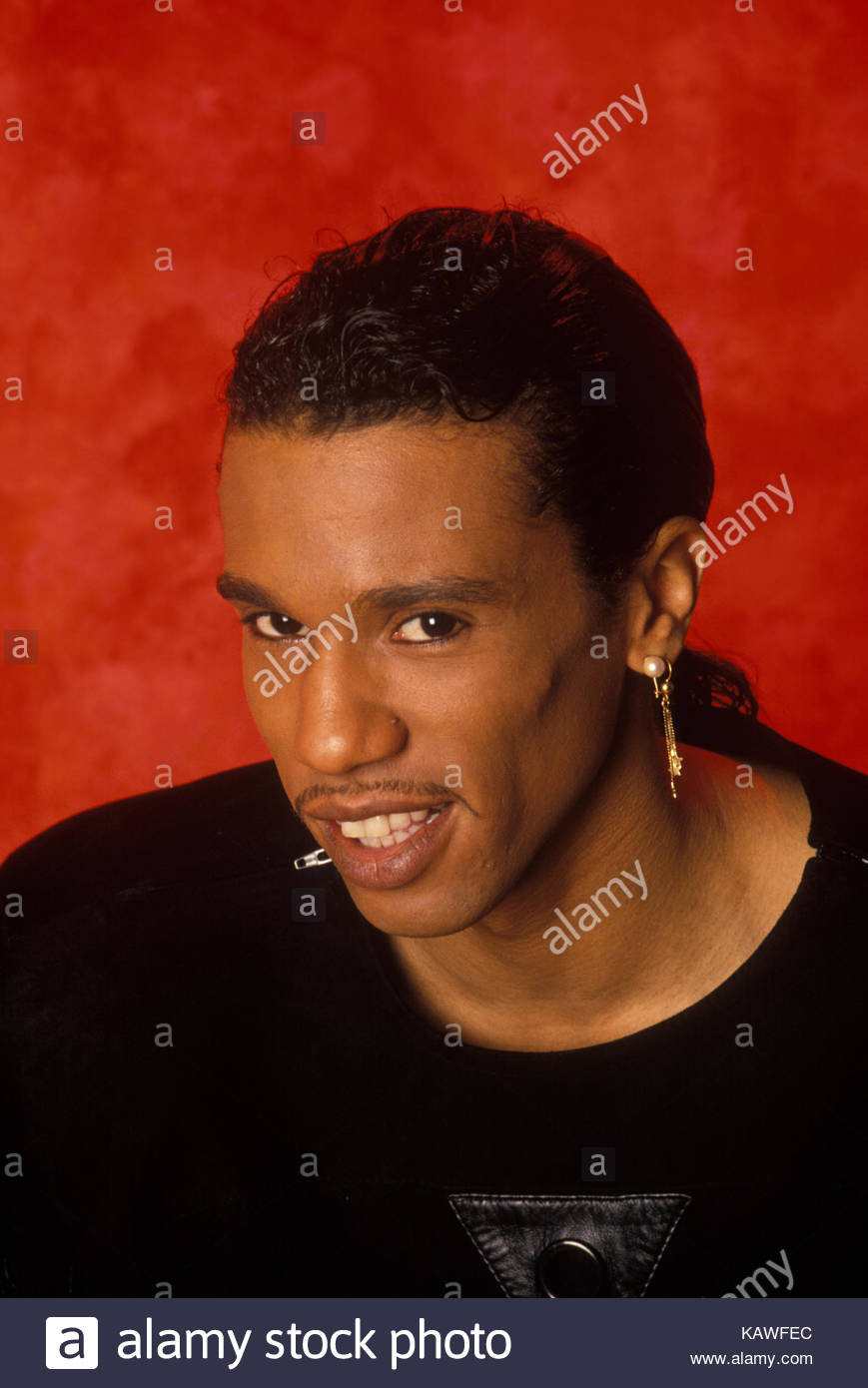Robby Goble of the band Kool and the Gang during a studio photo shoot on November 23, 1992 in New York City. - Stock Image