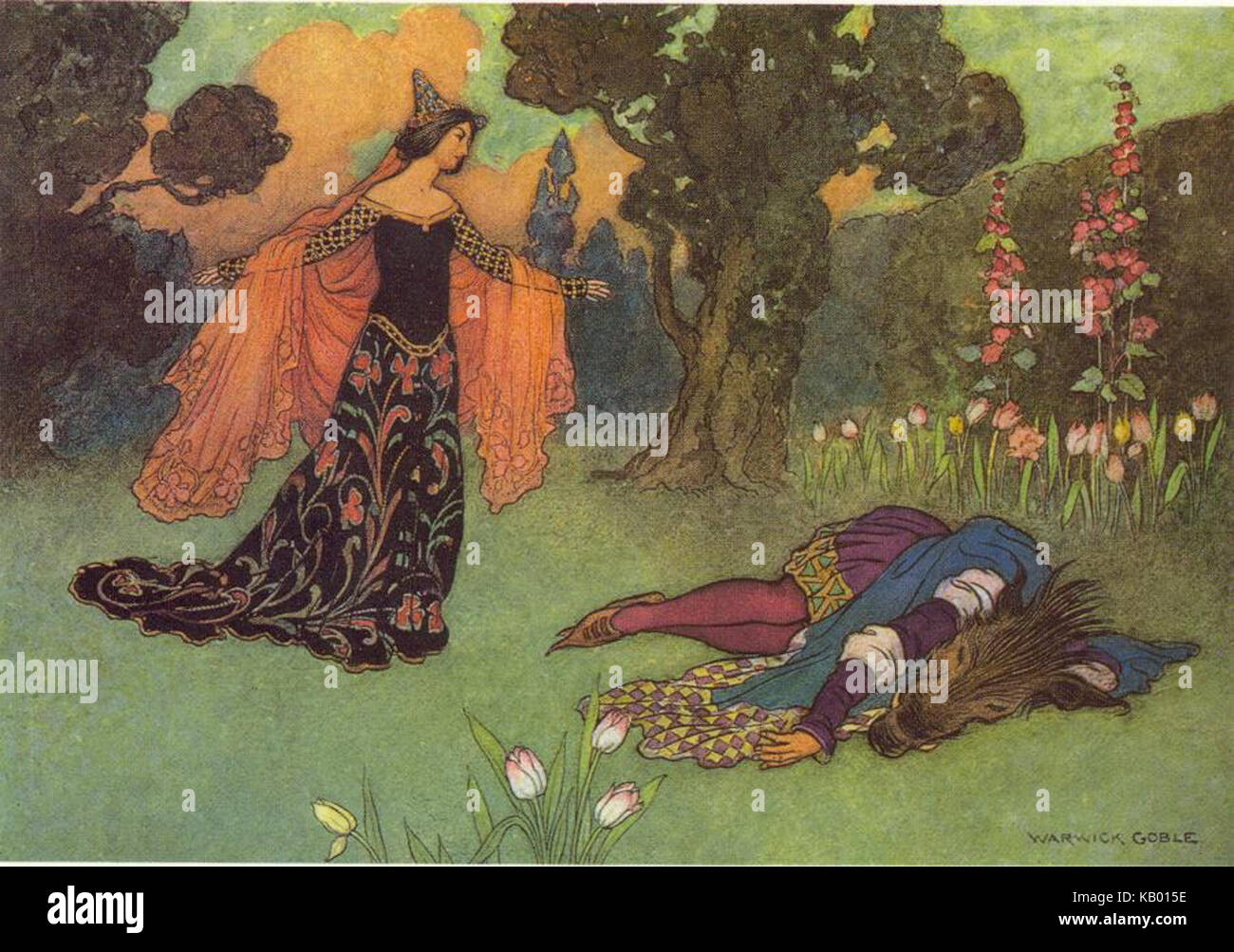 Warwick Goble Beauty and Beast - Stock Image