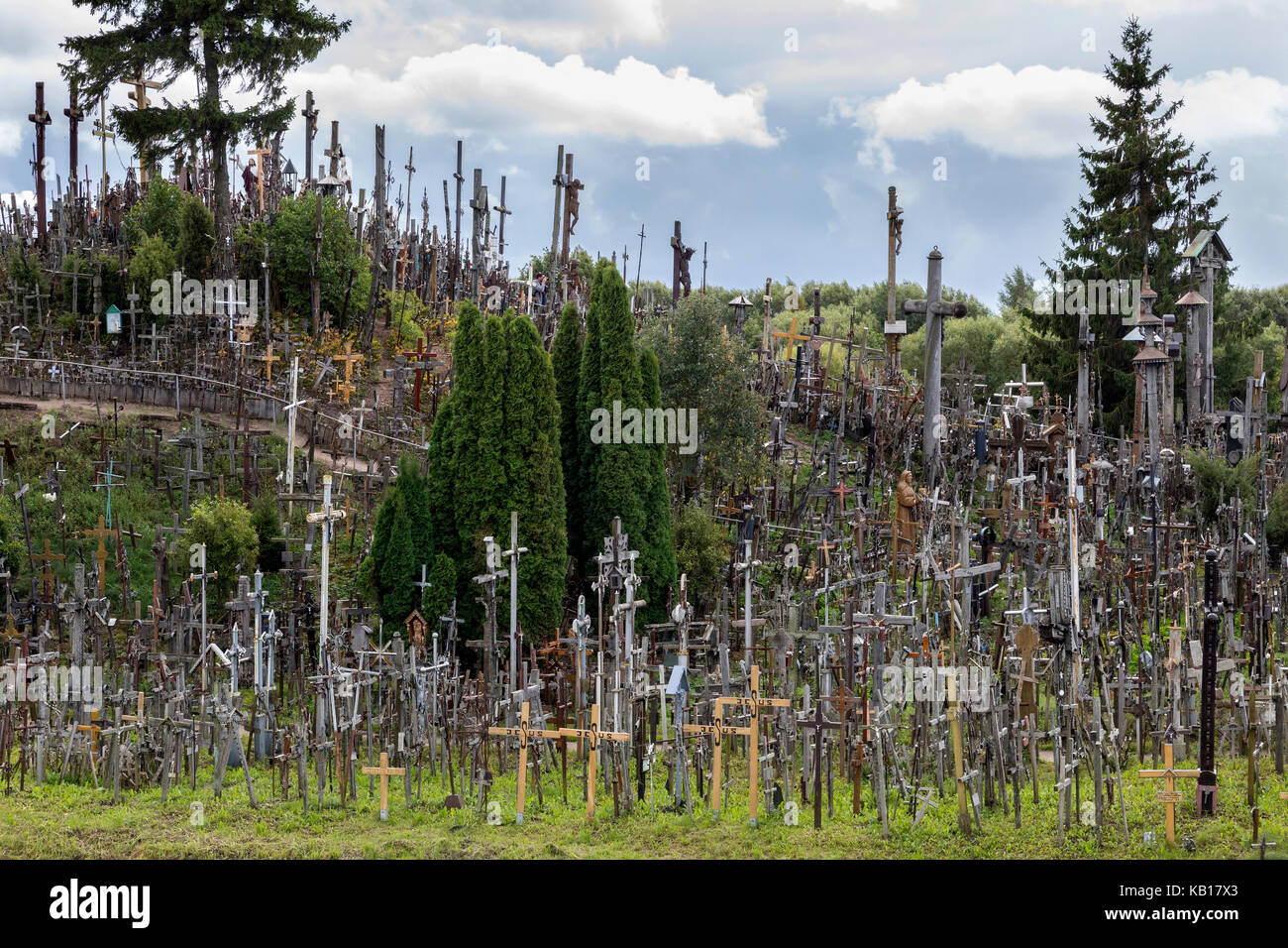 Hill of Crosses; Siauliai; Lithuania; religion; cross; crucifix; virgin mary; effigies; rosaries; many; pilgrimage; - Stock Image