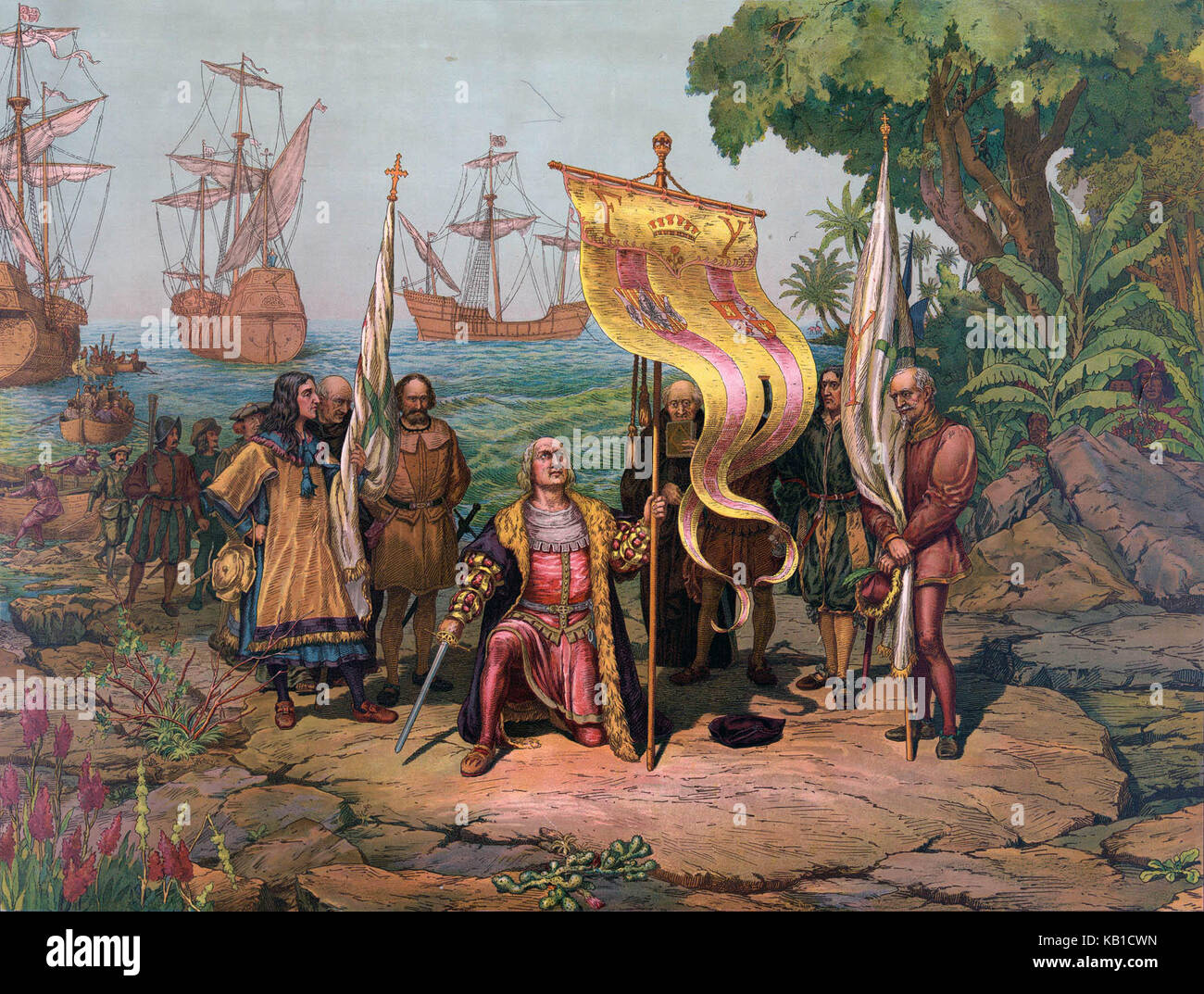 an introduction to the discovery of america in 1492 He discovered the americas for spain  he set sail on august 3, 1492 with three ships named the nina, the pinta, and the santa maria the voyage was long.