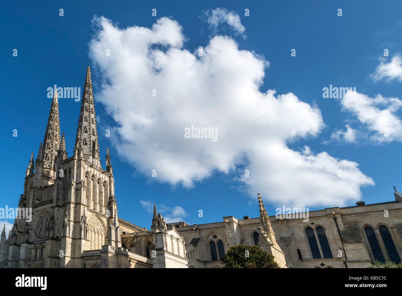 St Andre de Bordeaux Cathedral, Bordeaux, France - Stock Image
