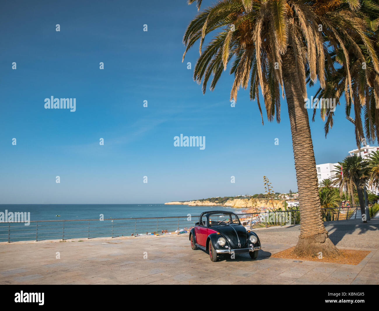 Cabrio beetle on holidays in Algarve, Portugal - Stock Image