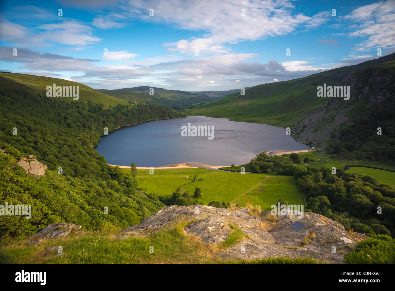 Lough Tay in Wicklow Mountains, Ireland - Stock Image