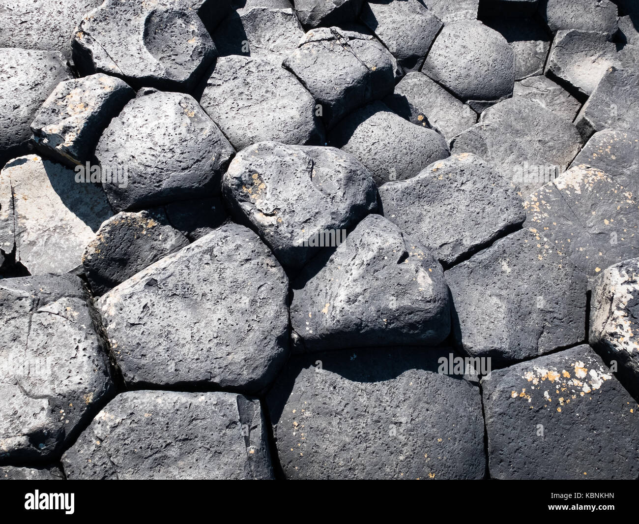 Giant's Causeway in Coutny Antrim, Northern Ireland - Stock Image