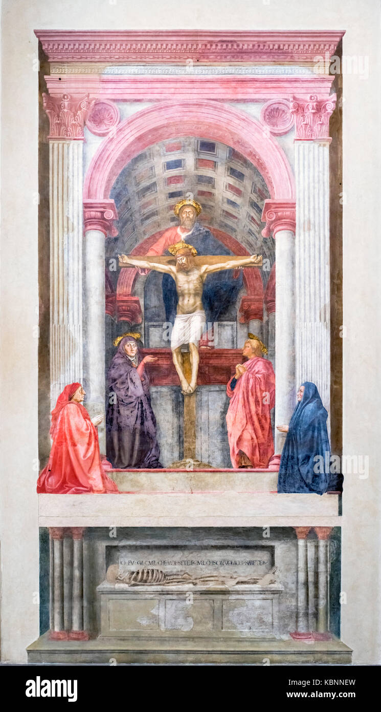 "an analysis of the holy trinity by masaccio Essay on the holy trinity, by masaccio 1367 words | 6 pages masaccio's famous religious painting, ""the holy trinity"", is known for the engagement of linear."