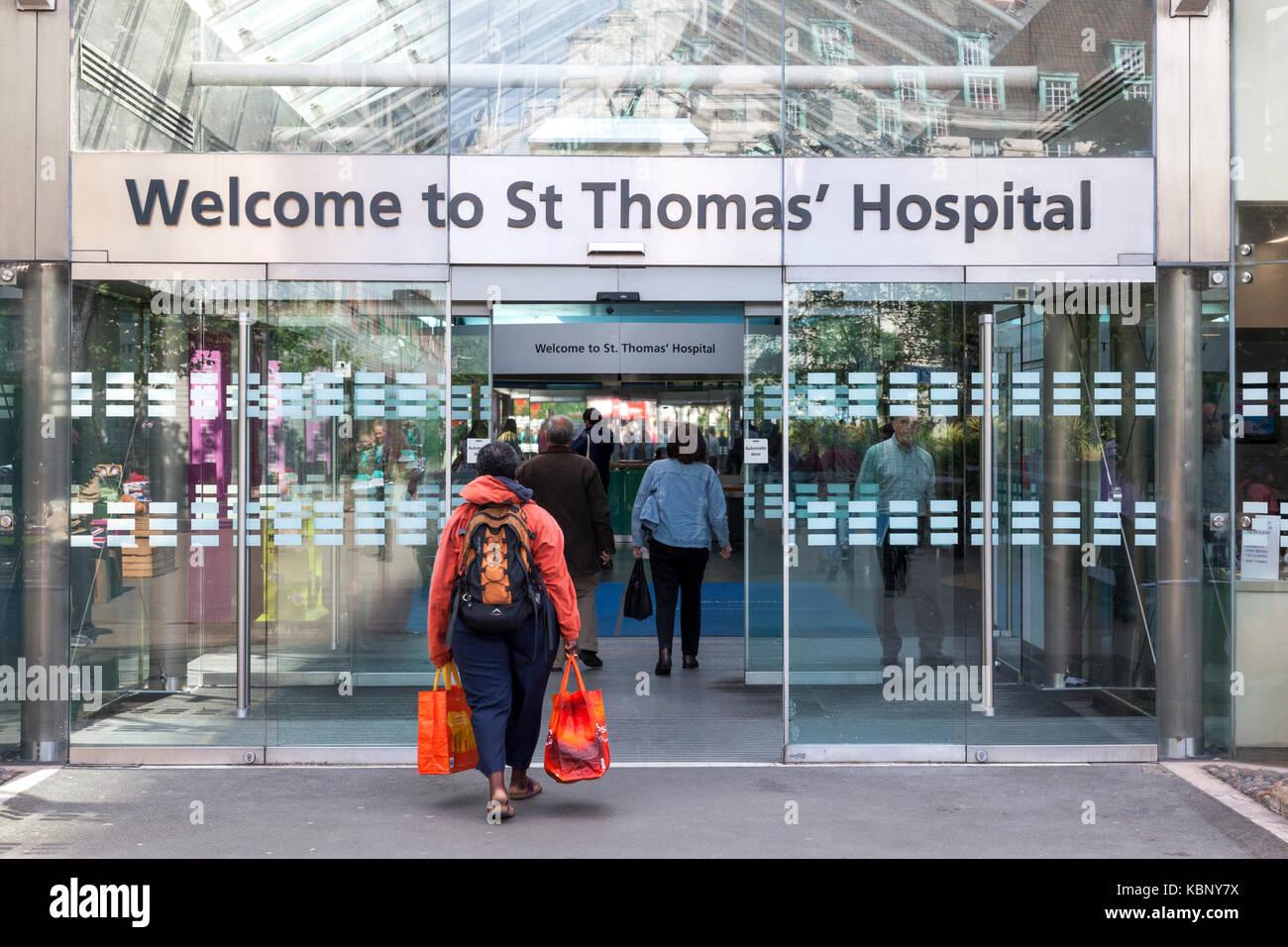 St Thomas' Hospital, London, England, UK - Stock Image