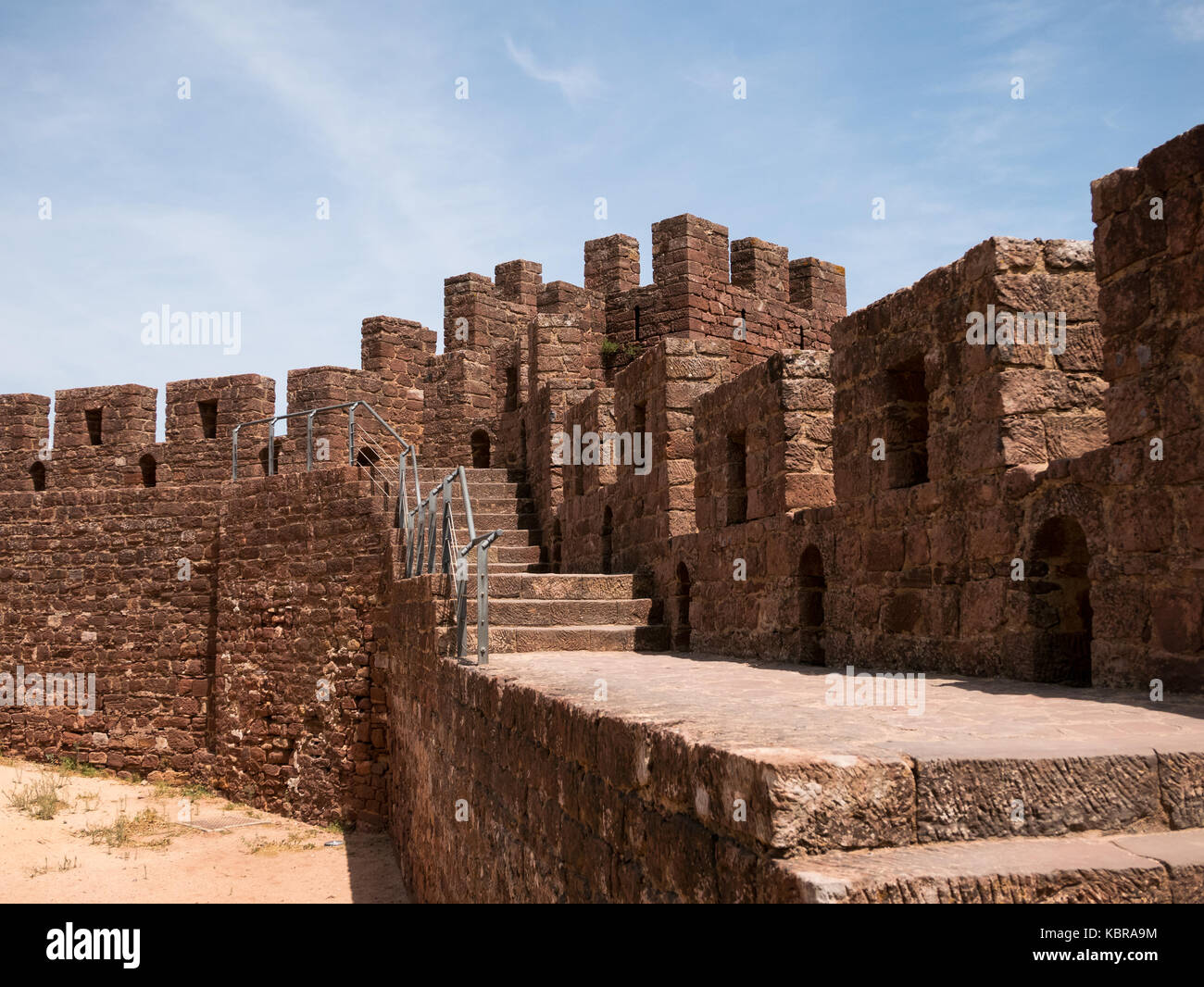 Silves Castle in Algarve, Portugal - Stock Image
