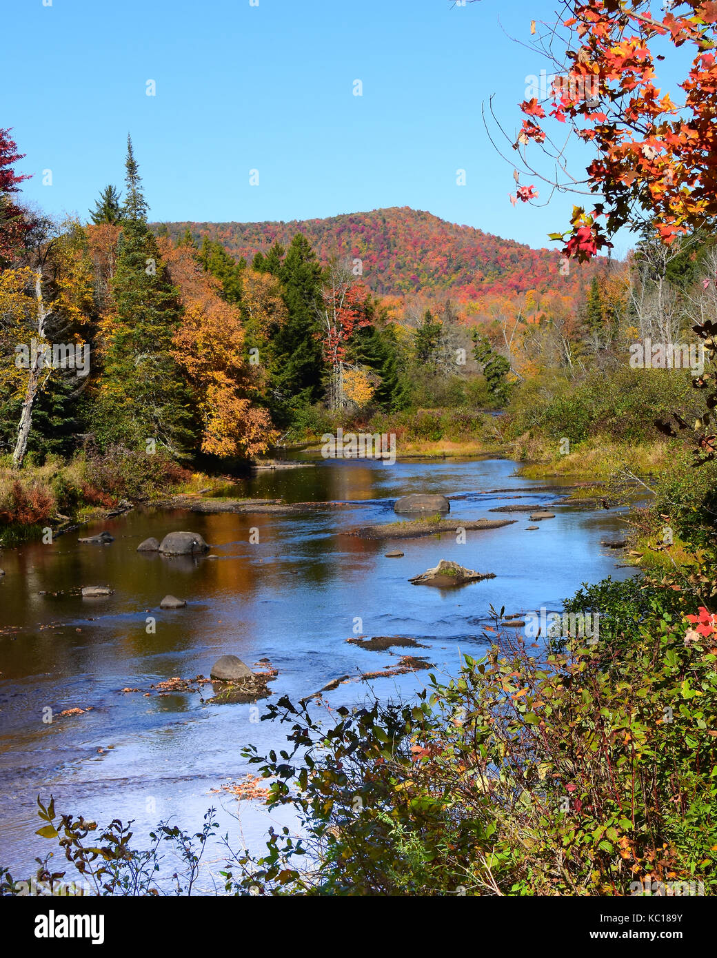 scenic-view-of-the-sacandaga-river-in-th