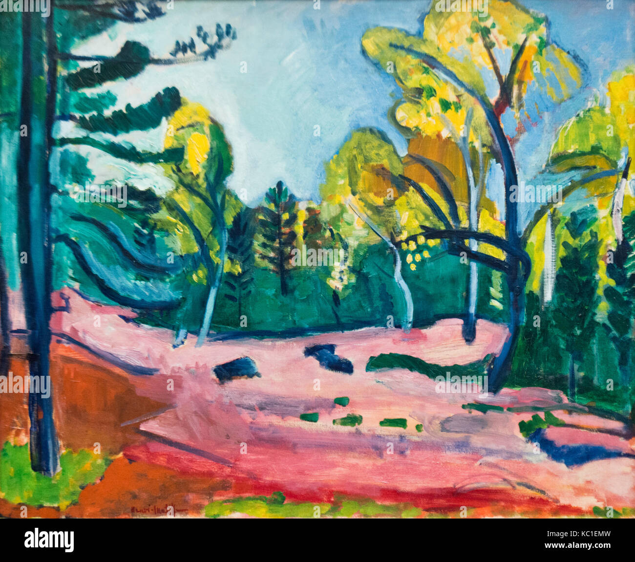 Henri Matisse: The Forest at Fontainebleau (1909) - Stock Image