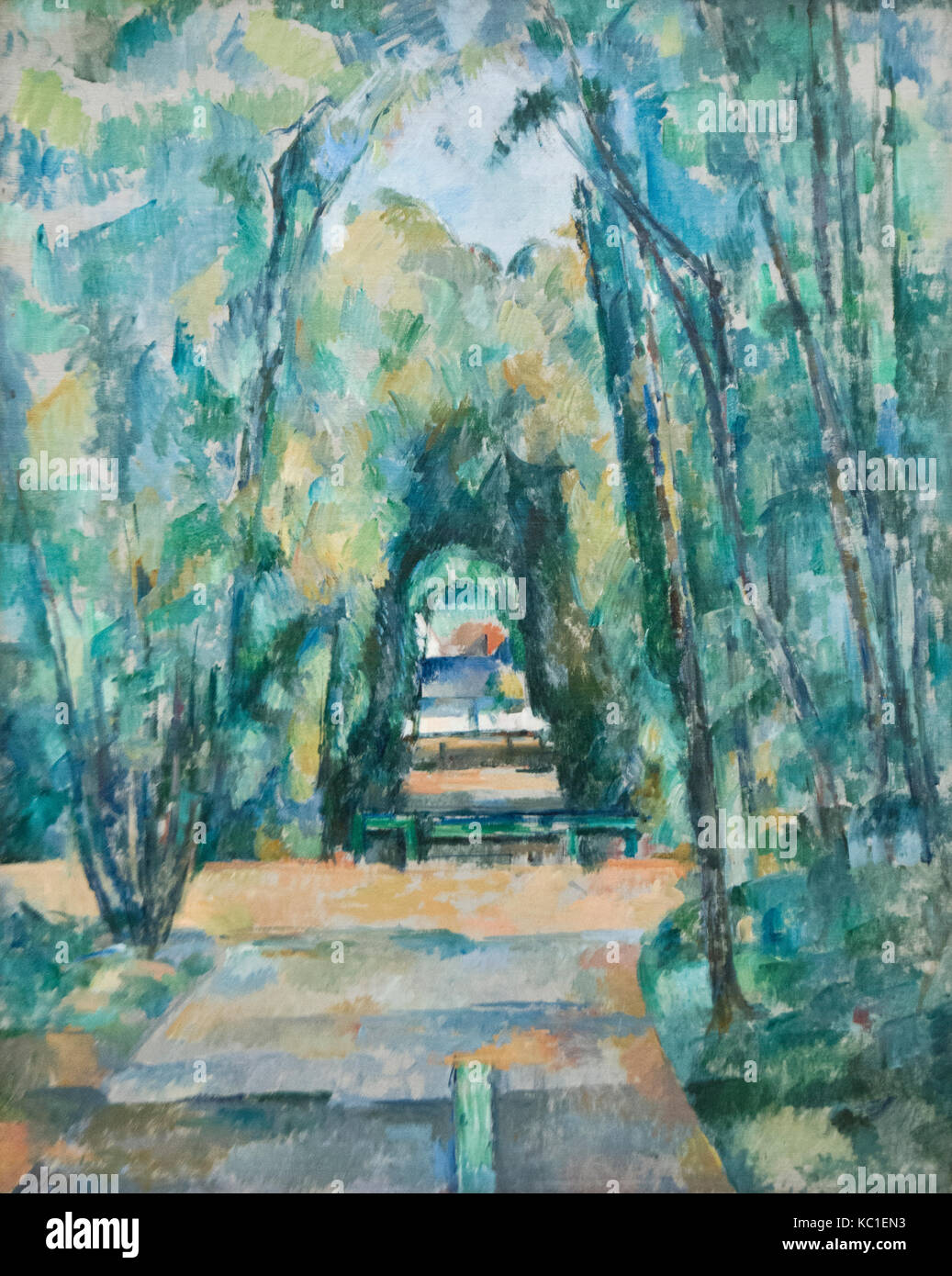 Paul Cezanne: Avenue at Chantilly (1888) - Stock Image