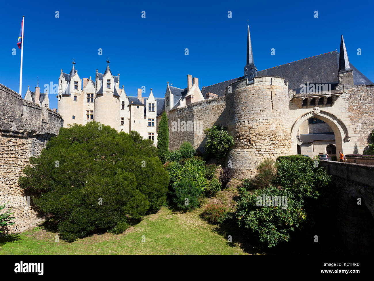 castle of montreuil bellay maine et loire department pays de la stock photo royalty free. Black Bedroom Furniture Sets. Home Design Ideas