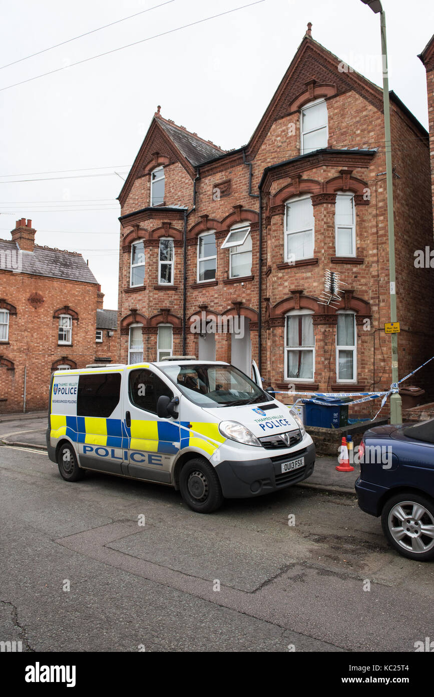 Banbury, United Kingdom. 02nd October 2017. A murder investigation has been launched following the discovery of - Stock Image