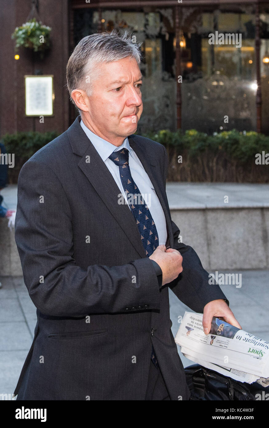 London, United Kingdom. 03rd October 2017. Transport for London Commissioner Mike Brown arrives at TfL headquarters, - Stock Image