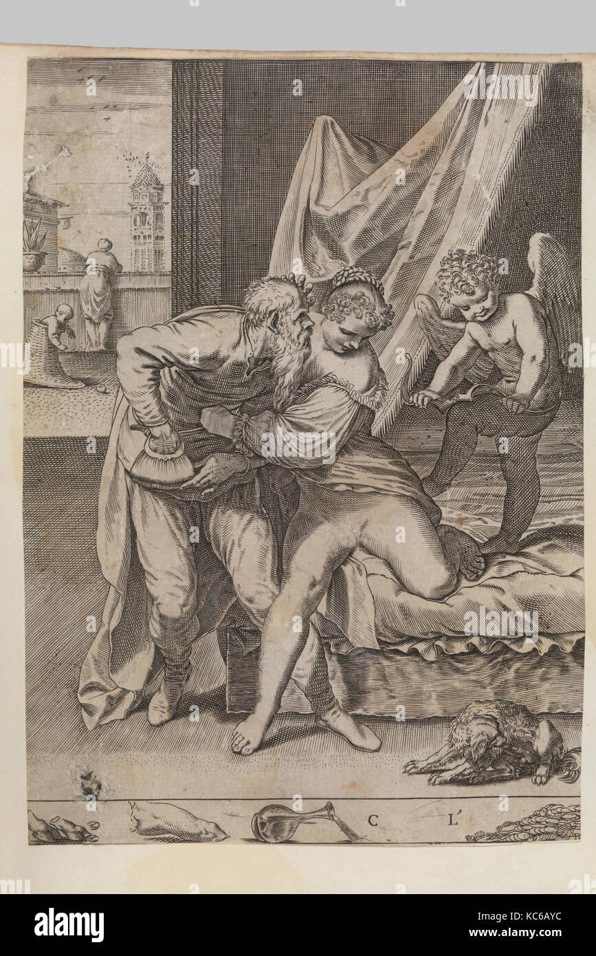 Ogni cosa vince l'oro, Agostino Carracci, ca. 1590–95 - Stock Image