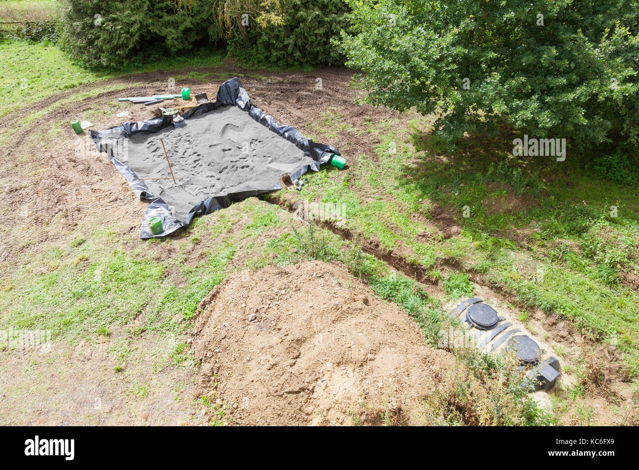Garden bed aerial stock photos garden bed aerial stock for Cottage septic systems