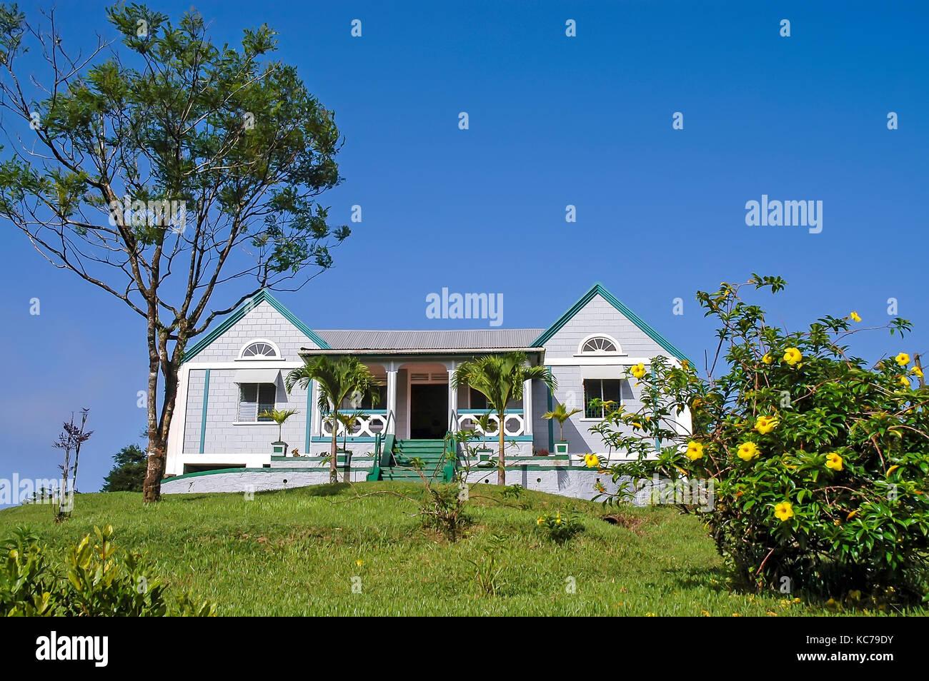Ranger Station Grand Etang National  Park and Forest Reserve Grenada - Stock Image