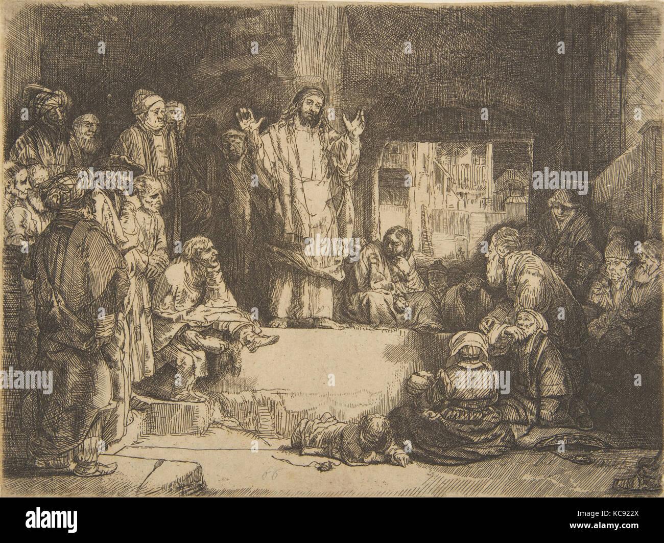 art analysis rembrandt christ preaching