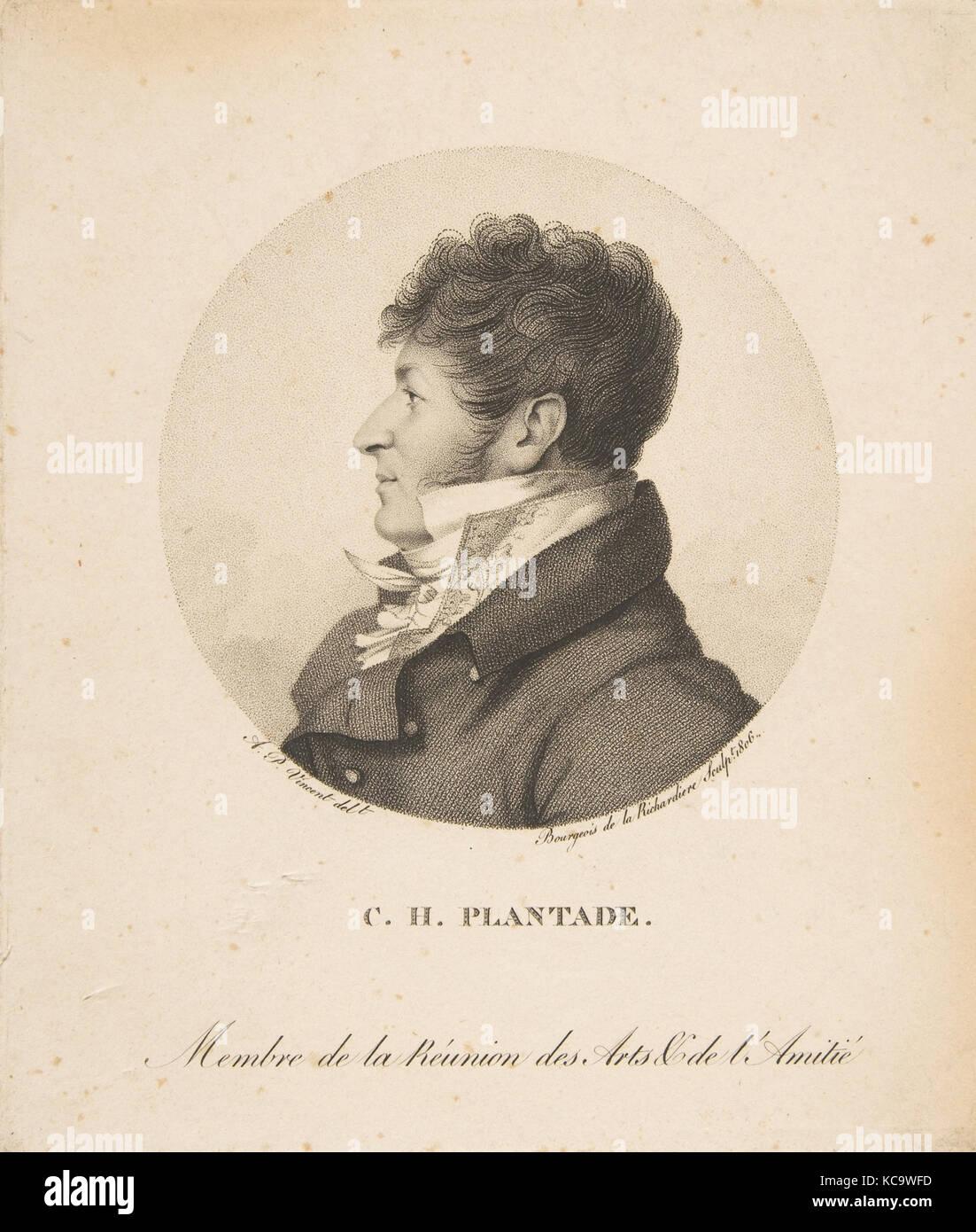 Charles Henri Plantade, Antoine Achille Bourgeois de la Richardière, 1806 - Stock Image