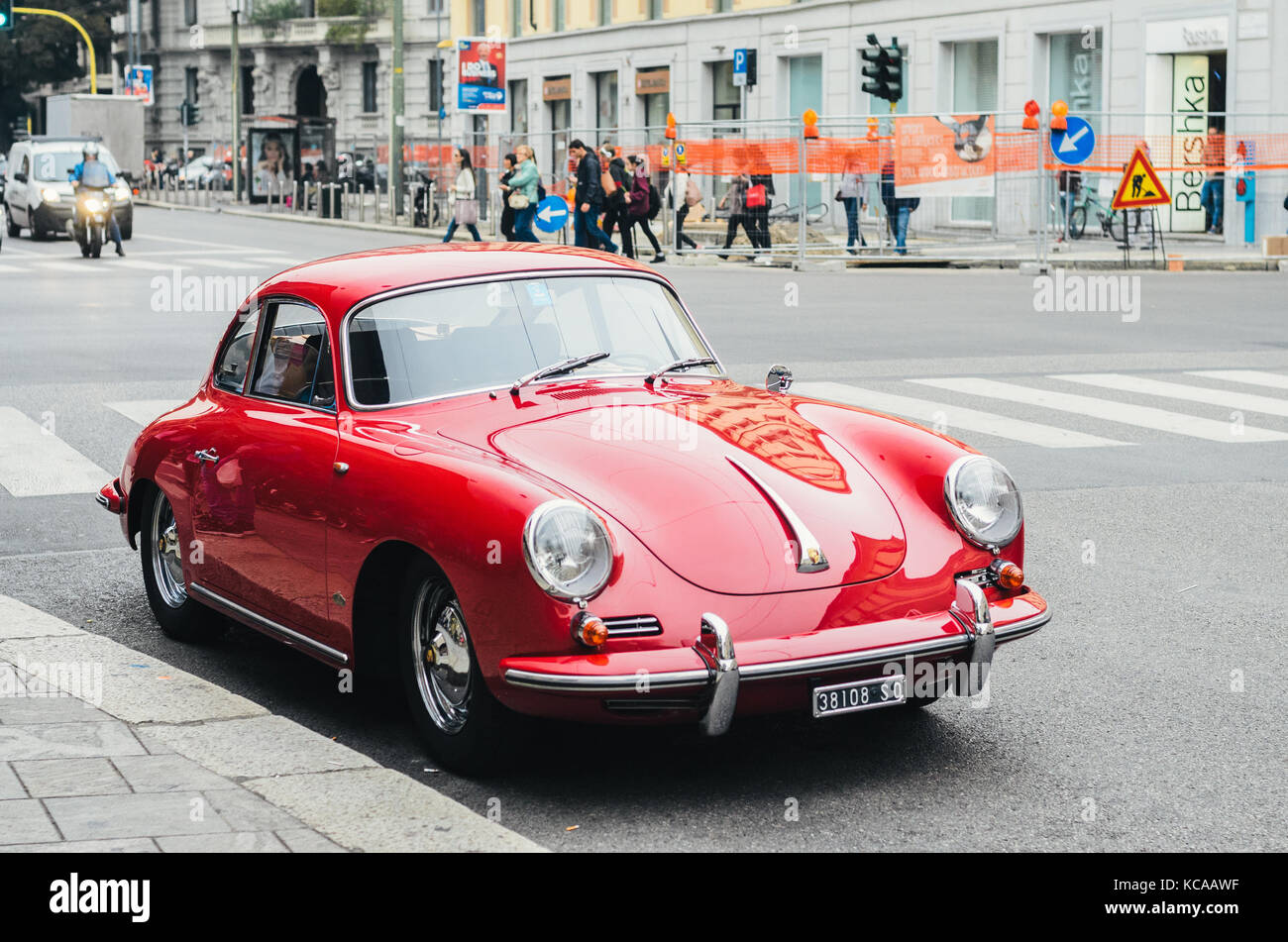 Red porsche 911 vintage Stock Photo
