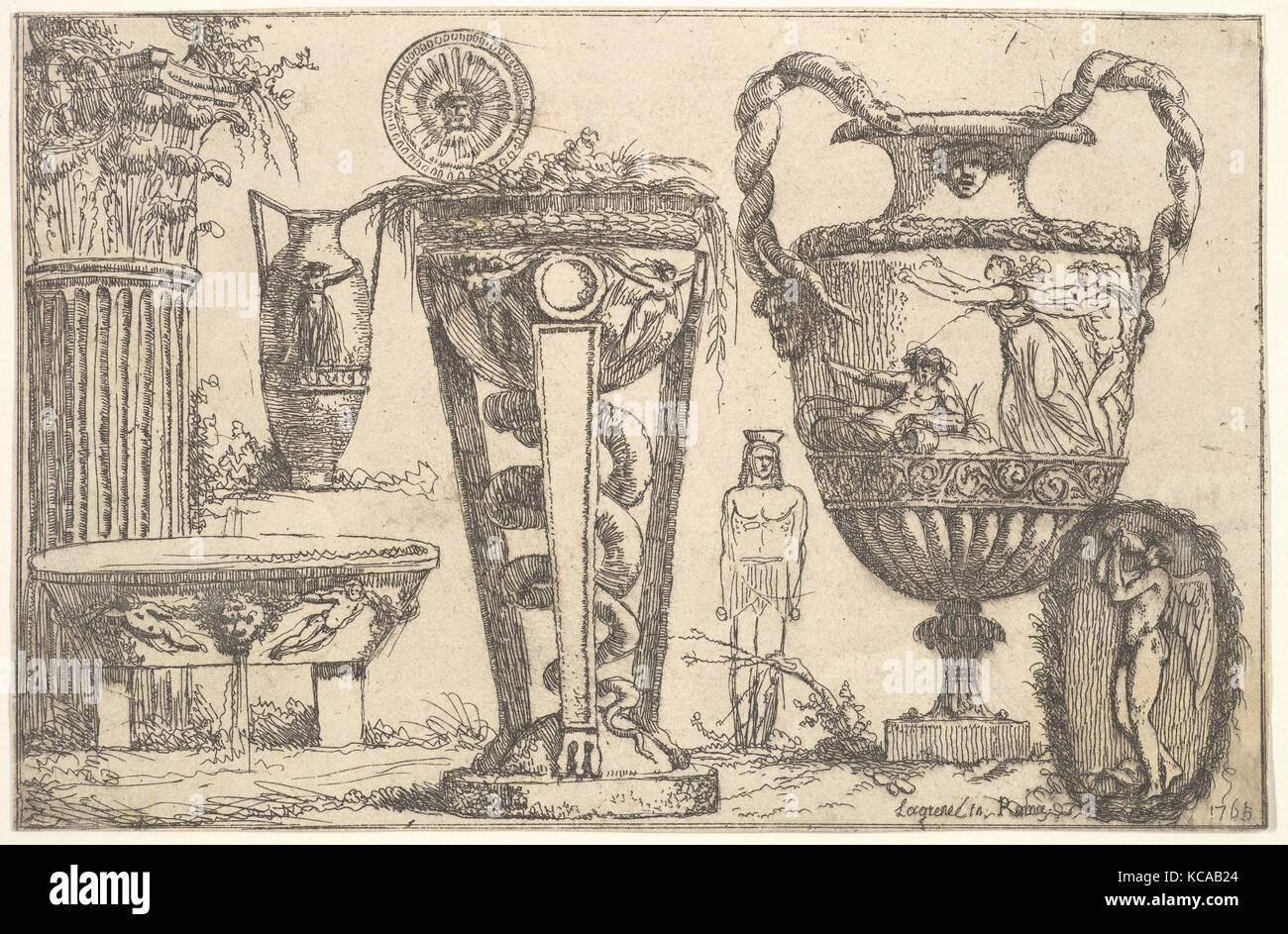 Fragments of Antiquity, Jean Jacques Lagrenée, 1765 - Stock Image