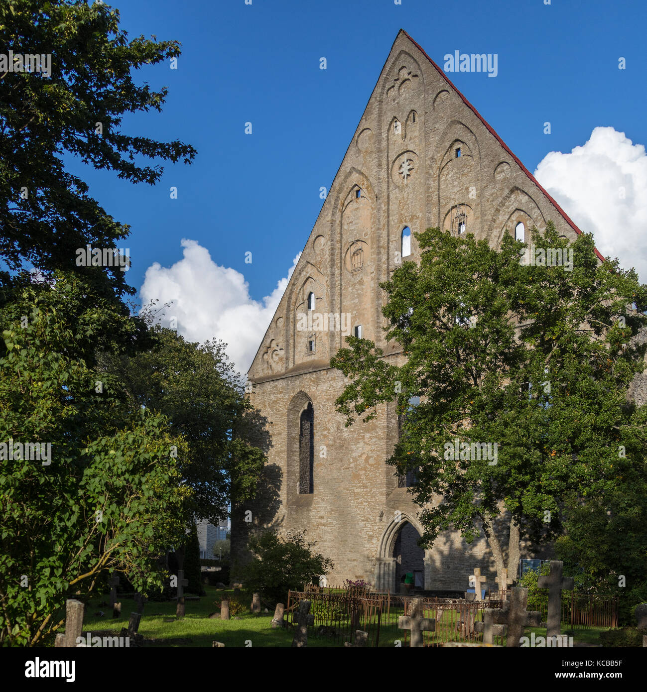 The Ruins of Pirita Convent. Pirita is a district of Tallinn in Estonia. The convent dates from 1417. It was was - Stock Image