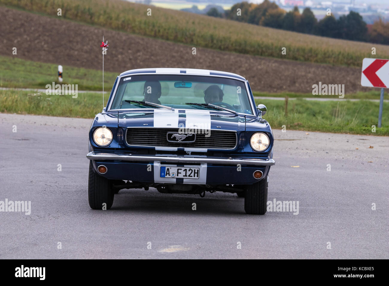augsburg germany october 1 2017 ford mustang oldtimer car at the stock photo royalty free. Black Bedroom Furniture Sets. Home Design Ideas