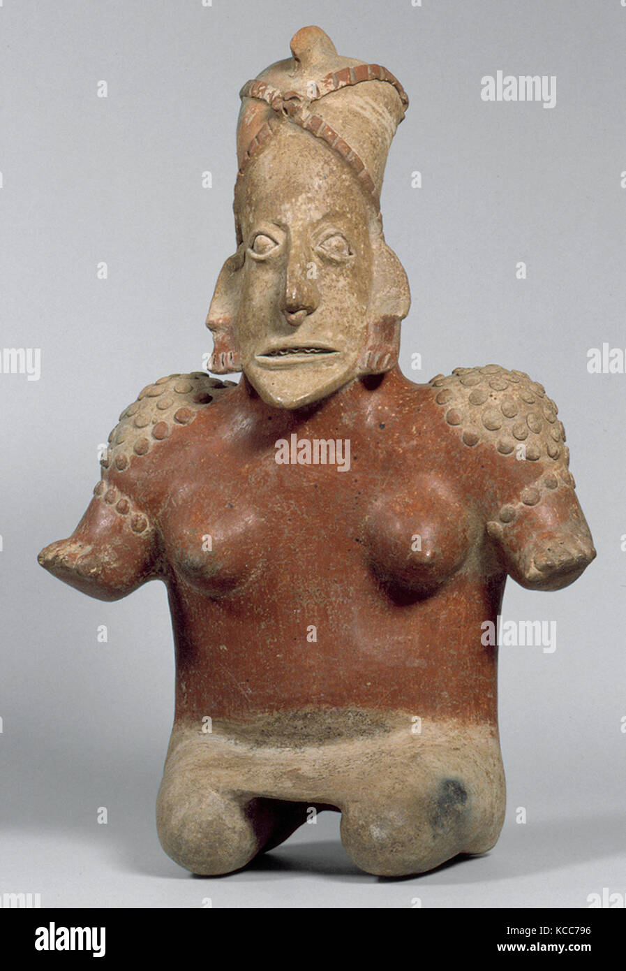 Female Figure, 1st century B.C.–A.D. 3rd century, Mexico, Mesoamerica, Jalisco, Jalisco, Ceramic, H.19 3/4 x W. - Stock Image