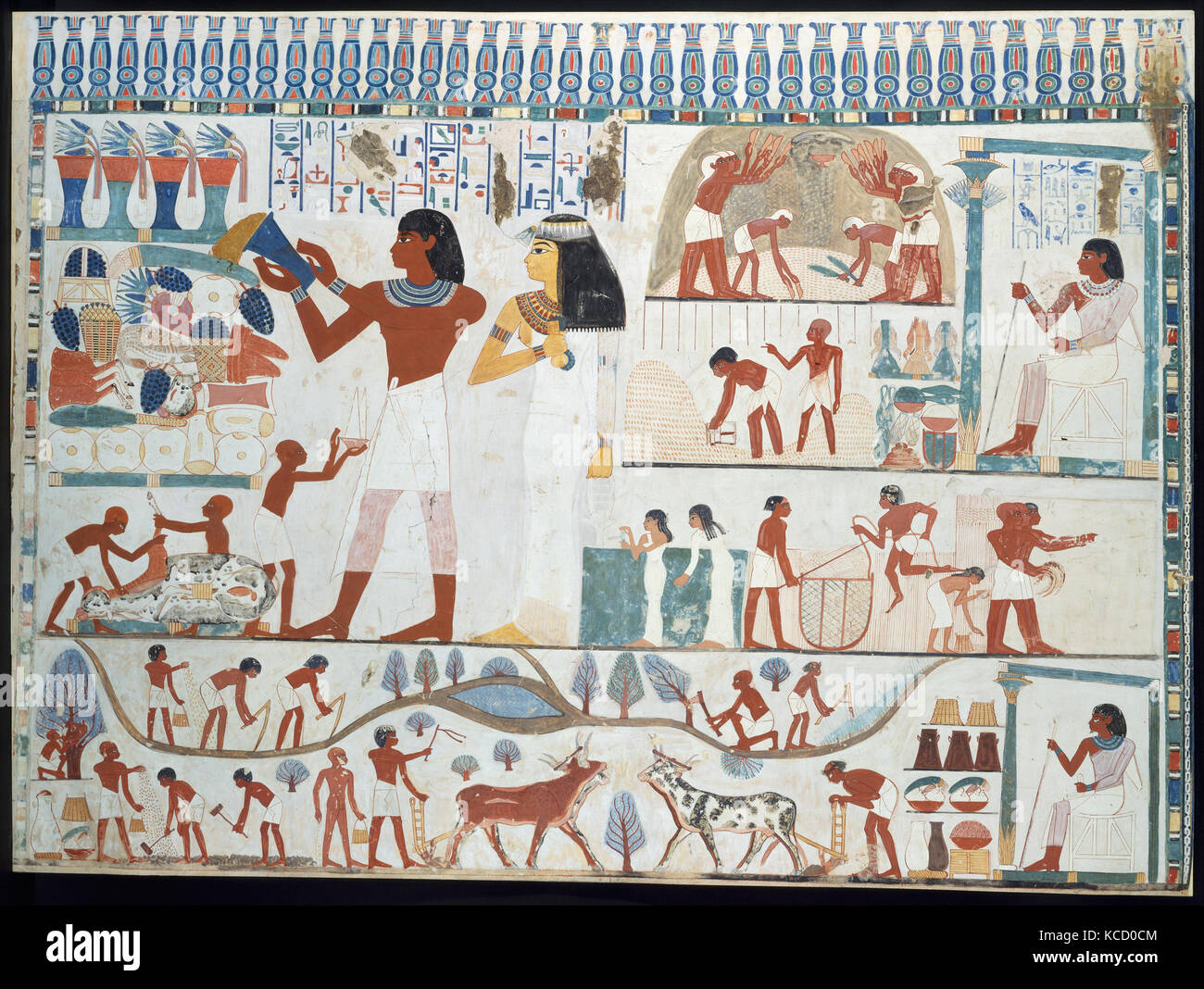 Tomb of nakht stock photos tomb of nakht stock images for Egyptian mural art